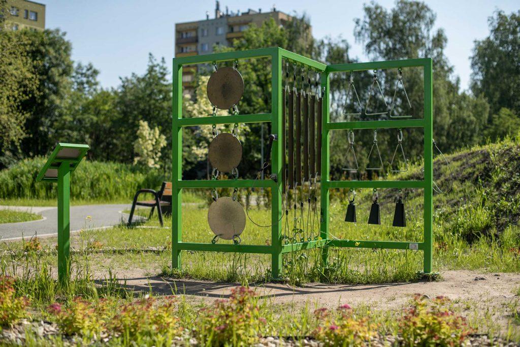 metalowy plac zabaw